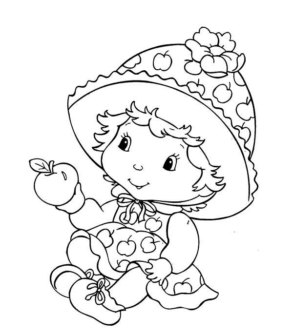 Strawberry Shortcake, : Strawberry Shortcake Little Sister Apple Dumplin Coloring Page