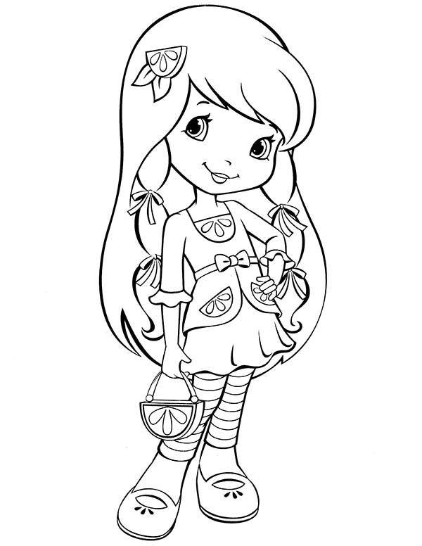 Strawberry Shortcake, : Strawberry Shortcake New Friends from Big Apple City Coloring Page