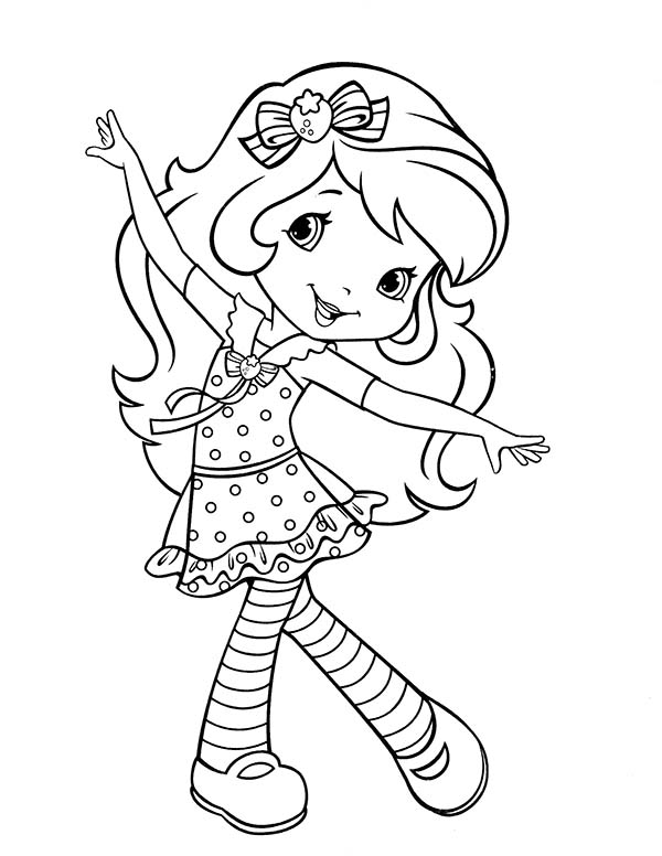Strawberry Shortcake, : Strawberry Shortcake Sweet Smile Coloring Page