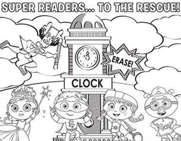 Superwhy, : Super Readers to the Rescue in Superwhy Coloring Page