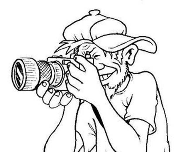 Photography, : Take a Snapshot in Photography Coloring Page