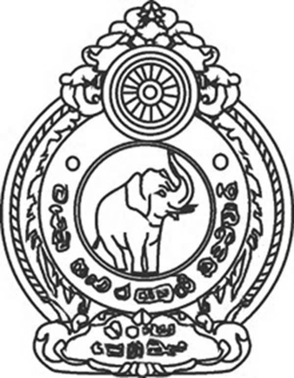 Police Badge, : Thailand Policeman Badge Coloring Page