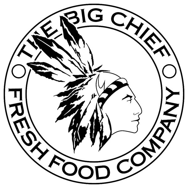Police Badge, : The Big Chief Fresh Food Company Badge Coloring Page
