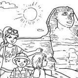 Camel And Pyramid Coloring Page Coloring Sky