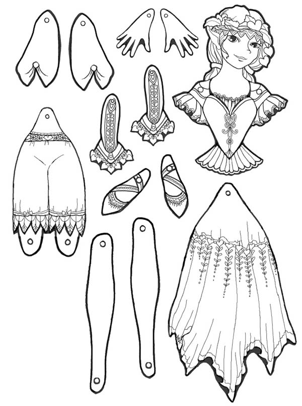 Puppet, : Valentine Puppet Part Coloring Page
