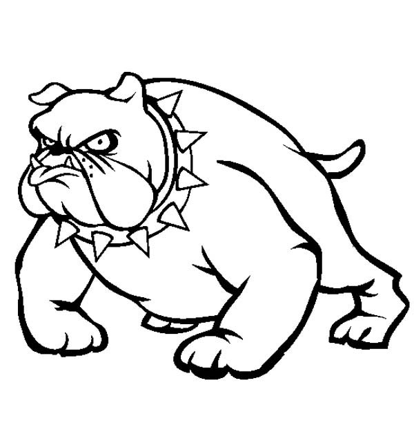 school bulldog coloring pages - photo#29