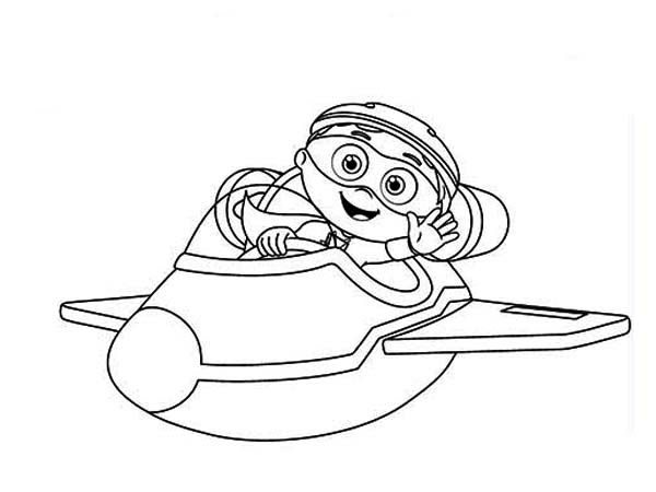 Superwhy, : Whyatt Ride Little Airplane in Superwhy Coloring Page