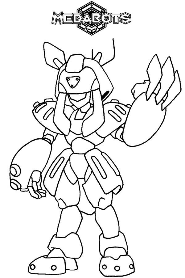 Medabots, : Winning Brass Medabots Coloring Page