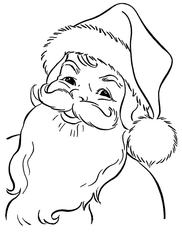 all kids around the world sweet heart santa claus coloring pages