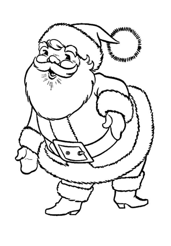 Santa Claus, : Big Fat and Funny Santa Claus Coloring Pages