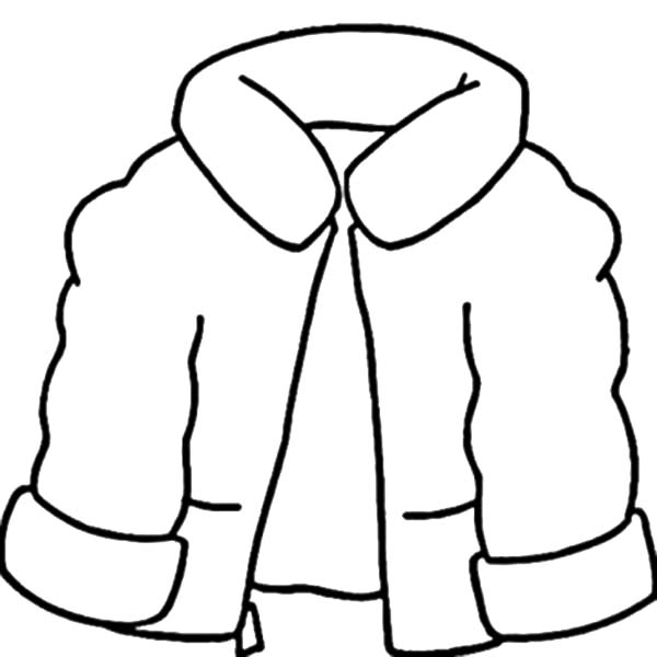 Coat For Winter Season Coloring Page Coloring Sky