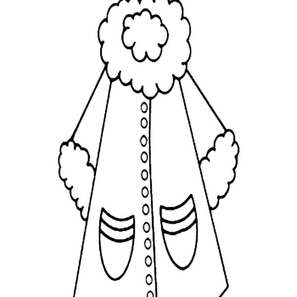 Coat For Women In Winter Season Coloring Page : Coloring Sky