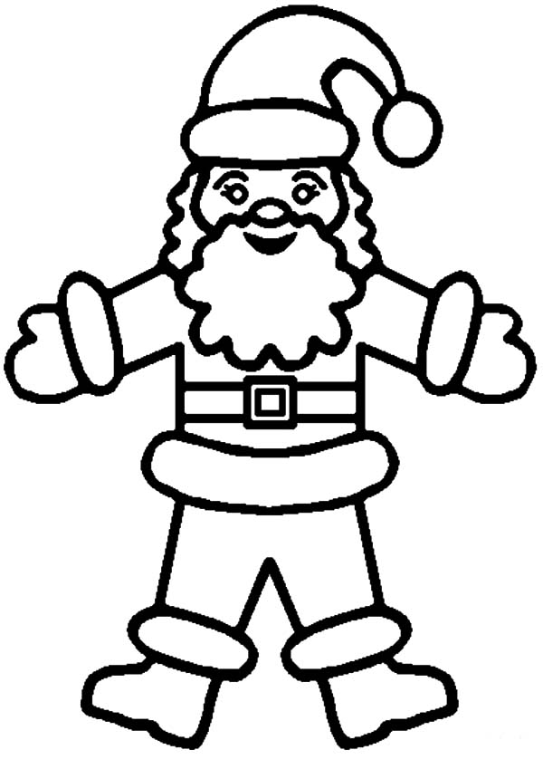 how to draw santa claus coloring pages