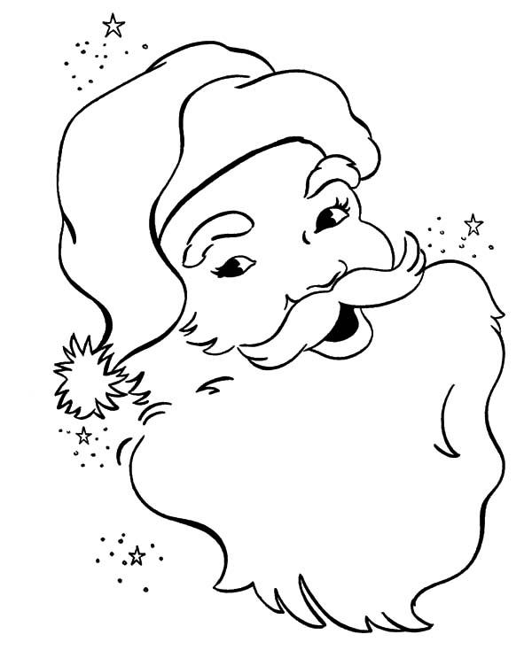 Santa Claus, : Santa Claus Laugh Hohoho Coloring Pages