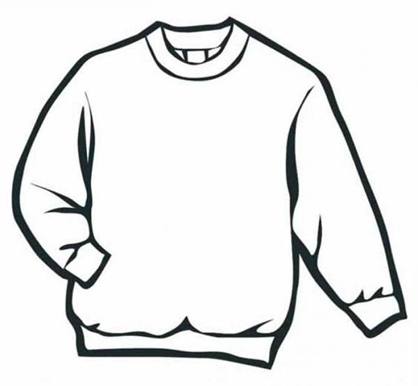 Sweater In Winter Season Coloring Page : Coloring Sky