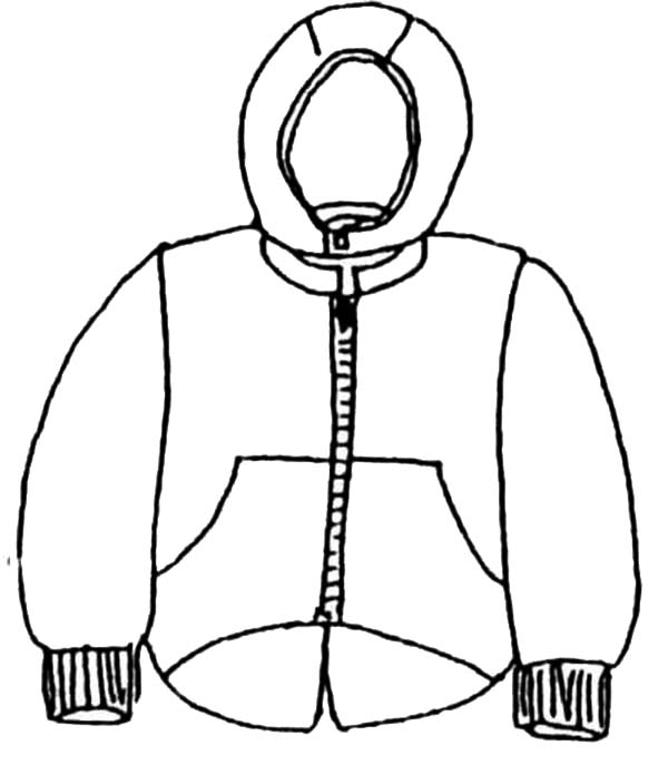 Coloring Pages Clothing: Winter Season Clothes To Protect Our Body Warm In Winter