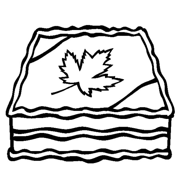 Canada Day Event, : Delicious Canada Day Event Cake Decoration Coloring Pages