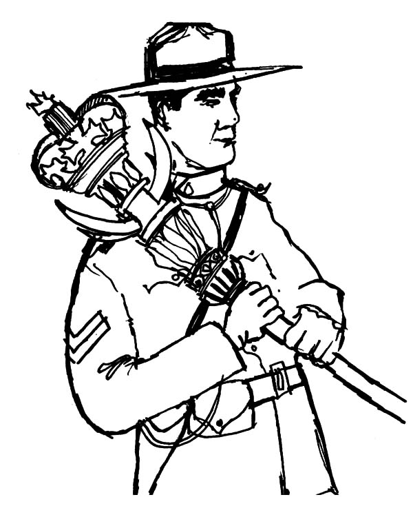 Canada Day Event, : Famous Canadian Ranger on Canada Day Event Coloring Pages