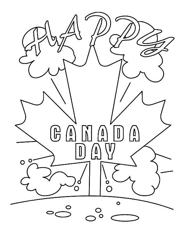 Canada Day Event, : Happy Canada Day Event Coloring Pages