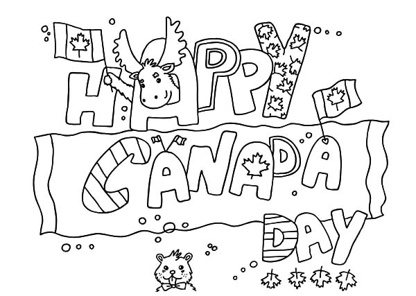 Canada Day Event, : Lovely Banner for Canada Day Event Coloring Pages