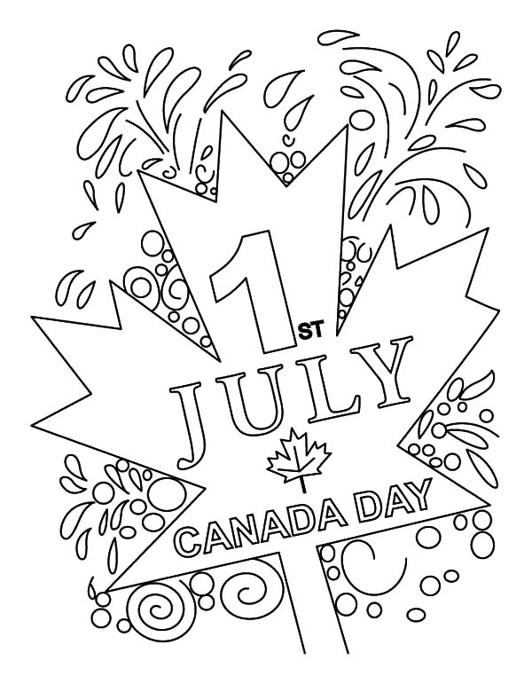 Canada Day Event, : Merry Canada Day Event on July 1st Coloring Pages