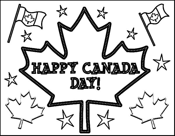 Canada Day Event, : Merry Celebration on Canada Day Event Coloring Pages