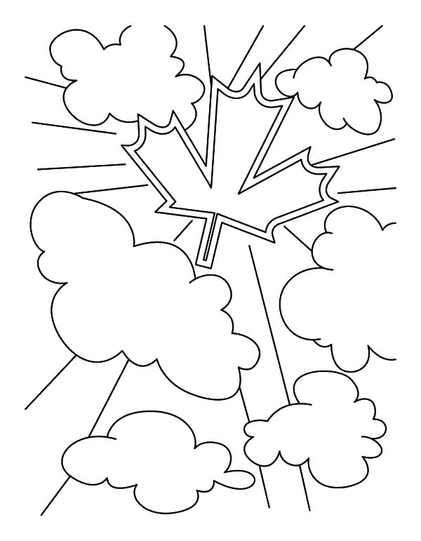 Canada Day Event, : Using Canada Symbol for Canada Day Event Coloring Pages