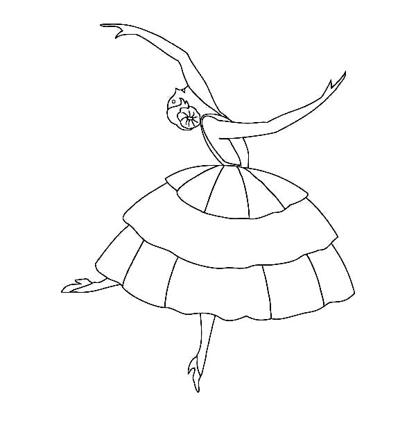 Ballet, : A Contemporary Ballet Leap Coloring Pages
