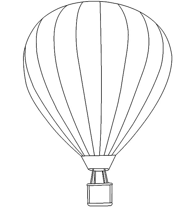 Air Balloon Coloring Pages Coloring Sky