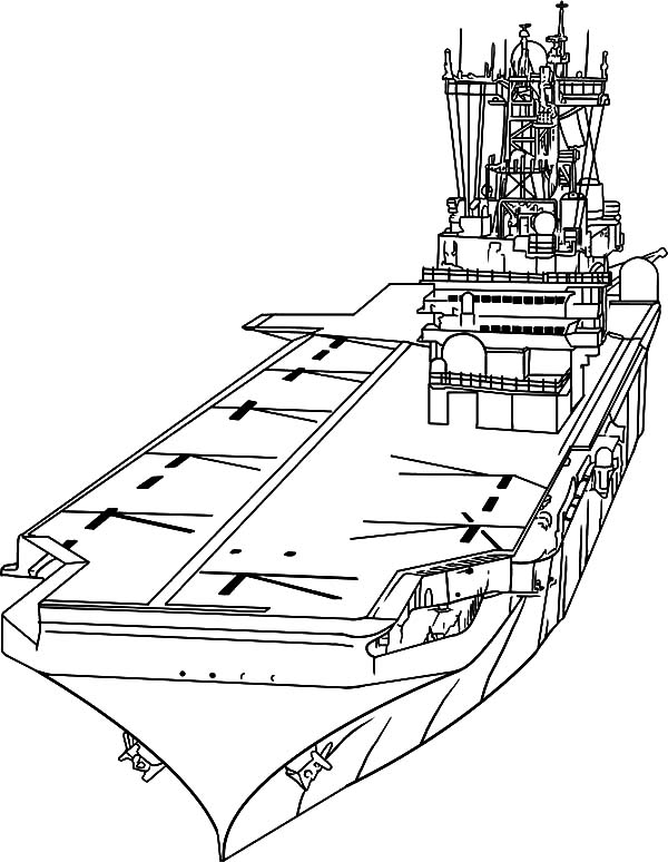 Aircraft Carrier, : Aircraft Carrier Coloring Pages for Kids