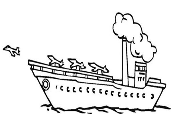 Coloring pages aircraft carrier ~ Aircraft Carrier With Planes Coloring Pages : Coloring Sky