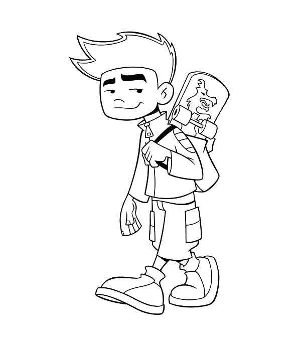 American Dragon Jake Long Going To School Coloring Pages