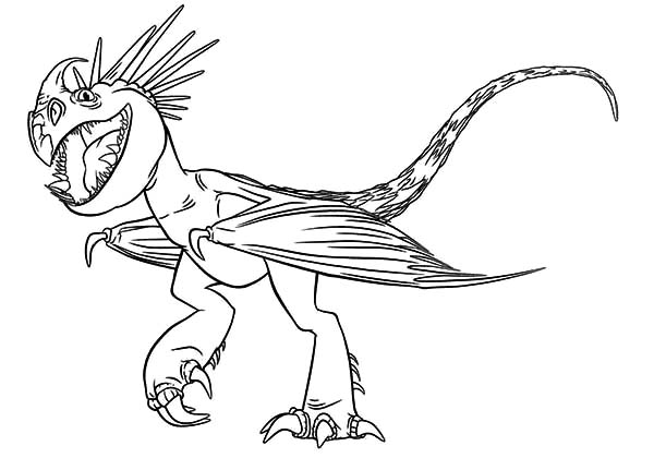Astrid Dragon Pet Nadder In How To Train Your Coloring Pages