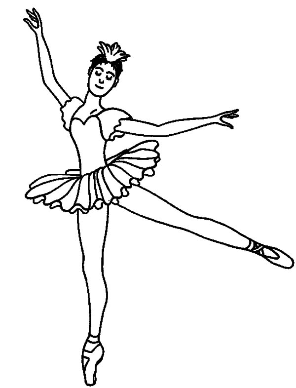 Ballerina Girl Perfect Performance Coloring Pages ...