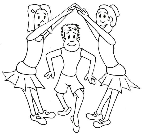 Ballet Girl, : Ballet Girl London Bridge Coloring Pages