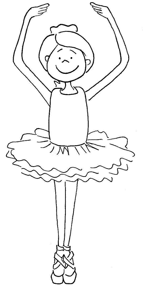 Ballet, : Ballet Student Coloring Pages