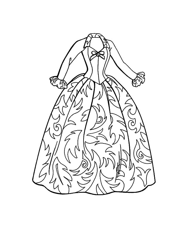 Coloring pages dresses and fashion