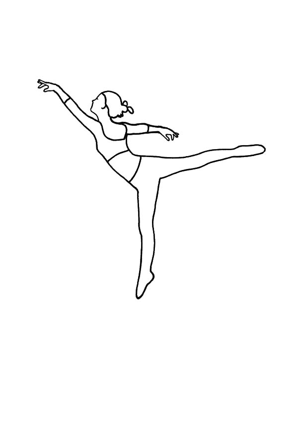 Ballet Girl, : Basic Move Ballerina Girl Coloring Pages