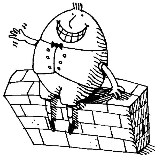 Humpty Dumpty, : Big Grin Humpty Dumpty Coloring Pages