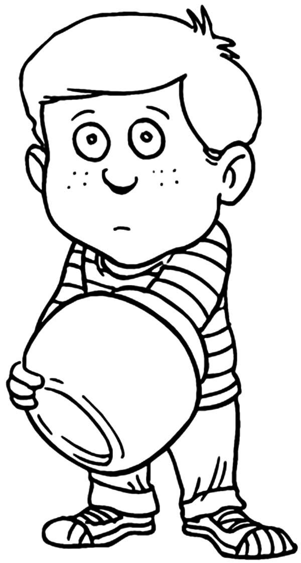 Cookie Jar, : Boy Put His Hand in Cookie Jar Coloring Pages