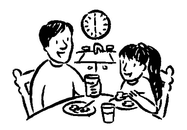 I Love Dad, : Breakfast with Daddy I Love Dad Coloring Pages