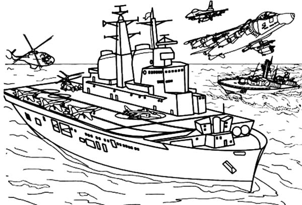 Coloring pages aircraft carrier ~ British Aircraft Carrier Invisible Coloring Pages ...