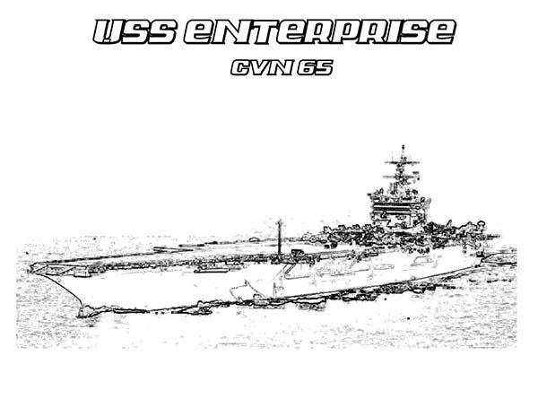 Coloring pages aircraft carrier ~ CVN 65 Enterprise Aircraft Carrier Ship Coloring Pages ...
