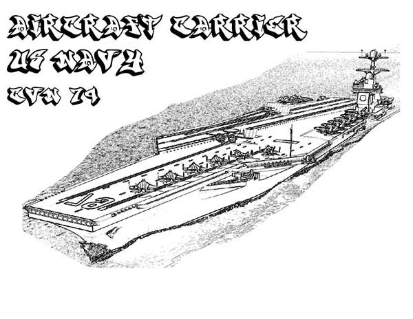 Coloring pages aircraft carrier ~ CVN 74 Aircraft Carrier Ship US Navy Coloring Pages ...