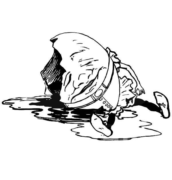 Humpty Dumpty, : Cannot Put Humpty Dumpty Together Again Coloring Pages
