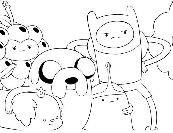 adventure time coloring pages 2015 | Cartoon Network Adventure Time Coloring Pages : Coloring Sky