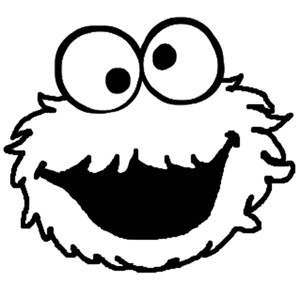 Cookie Monster, : Cookie Monster Silly Face Coloring Pages