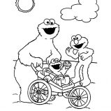 Be Mine Valentine Cookie Monster Coloring Pages : Coloring Sky