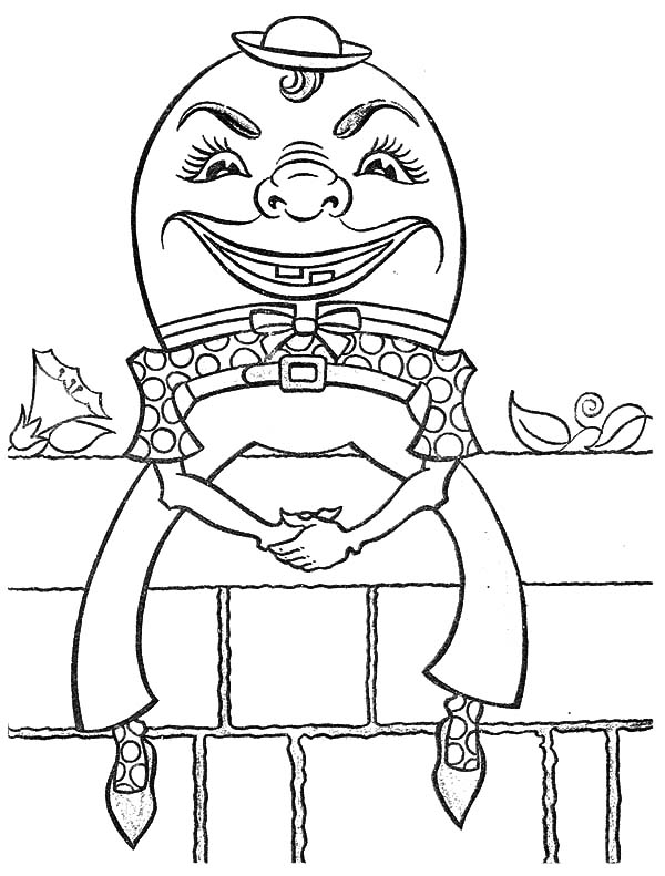 Humpty Dumpty, : Creepy Humpty Dumpty Coloring Pages