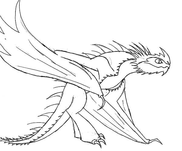How To Train Your Dragon, : Dangerous Dragon Kill in Sight in How to Train Your Dragon Coloring Pages